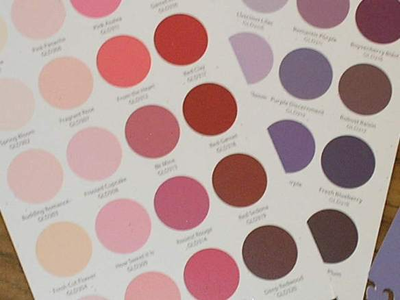 Paint color range cards.  Use the colors seperately or cut shapes across two colors for a fun look