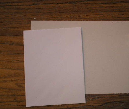 "A half sheet heavy paper (half of an 8 1/2 x 11"" sheet) An invitation sized envelope (4 1/4 x 5 1/2"")"