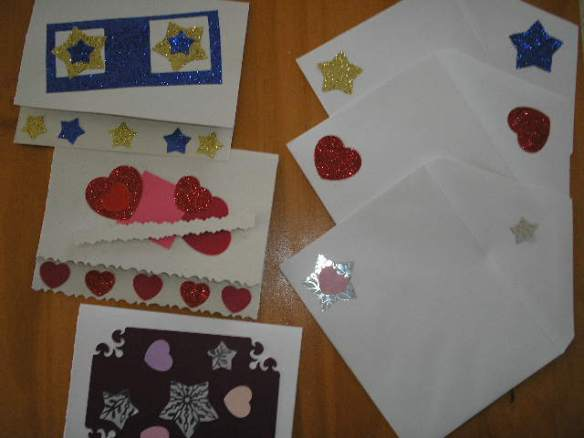 Don't forget to decorate and make matching envelopes