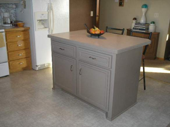 Newly Redone Kitchen Island